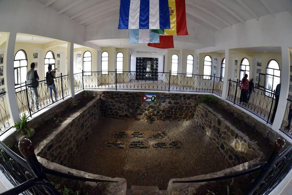 Che Guevara's grave sits amongst those of his revolutionaries (AFP/Getty Images)