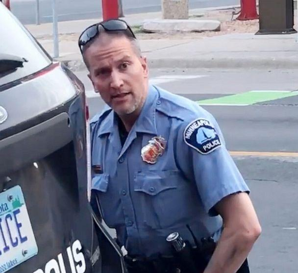 PHOTO: Minneapolis police officer Derek Chauvin in an image from the video during arrest of George Floyd, May 25, 2020, in Minneapolis. (Darnella Frazier via Storyful)