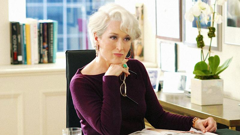 Pictured: Meryl Streep plays nasty boss Miranda Priestly in hit film The Devil Wears Prada. Image: 20th Century Fox