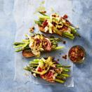 """<p>With towering fresh veggies and creamy burrata, these tartines are almost too pretty to eat.</p><p><a href=""""https://www.goodhousekeeping.com/food-recipes/easy/a27272857/asparagus-burrata-and-prosciutto-tartines-recipe/"""" rel=""""nofollow noopener"""" target=""""_blank"""" data-ylk=""""slk:Get the recipe for Asparagus, Burrata, and Prosciutto Tartines»"""" class=""""link rapid-noclick-resp""""><em>Get the recipe for Asparagus, Burrata, and Prosciutto Tartines»</em></a></p>"""