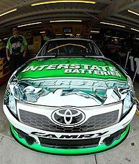 Interstate Batteries, not M&M's, will be the primary sponsor for Kyle Busch for the final two races of 2011