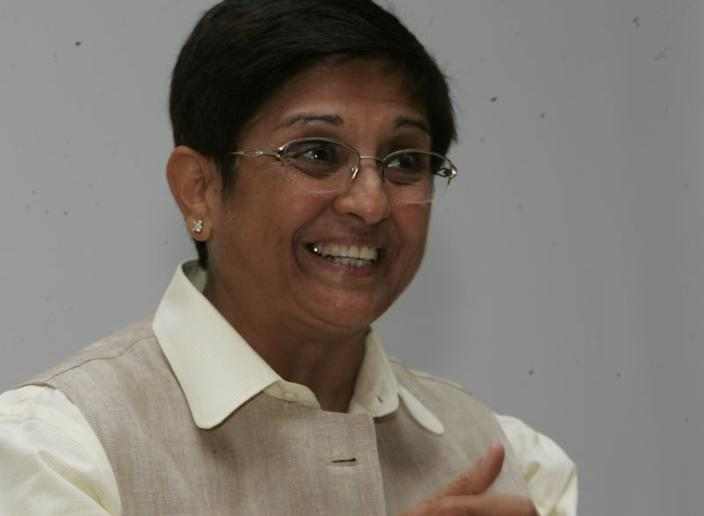 Kiran Bedi is India's first and one of the highest-ranking woman police officers.