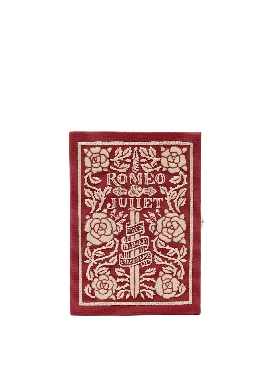 <p>This <span>Olympia Le Tan Romeo &amp; Juliet Embroidered Book Clutch</span> ($1,110) is a work of art, and has been at the top of this editor's wishlist for quite some time.</p>