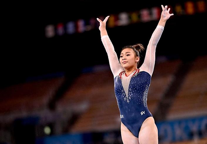Image: Sunisa Lee of the United States competes in the balance beam event of the artistic gymnastics women's all-around final during the Tokyo Olympic Games at the Ariake Gymnastics Centre on July 29, 2021. (Loic Venance / AFP - Getty Images)