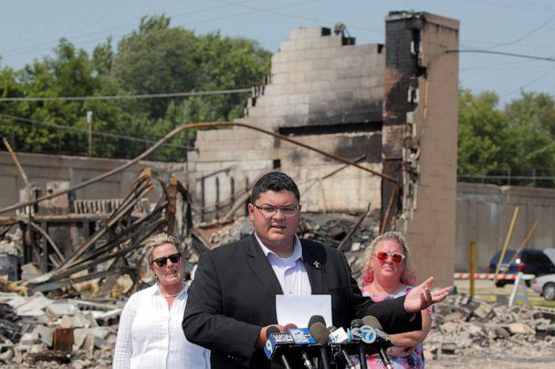PHOTO: Kenosha County Supervisor Zach Rodriguez speaks during a news conference regarding the protests and shootings that came after Jacob Blake was shot by police, in Kenosha, Wis., Aug. 26, 2020. (Brendan McDermid/Reuters)