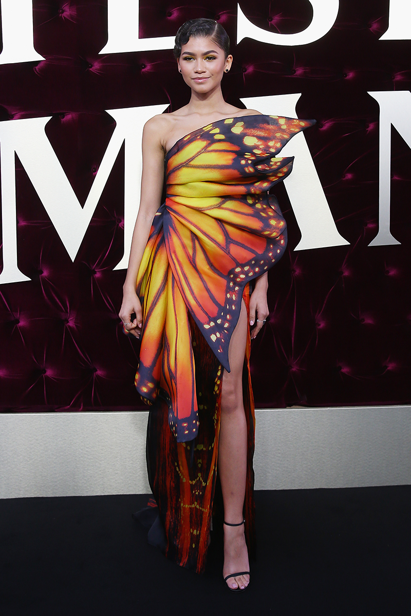 <p>Whoa, how amazing is this butterfly Moschino dress, designed by Jeremy Scott?</p>