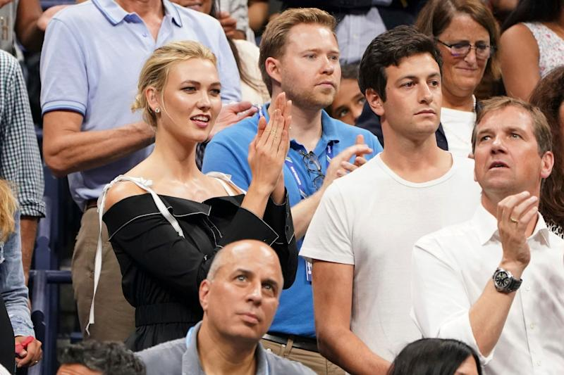 Karlie Kloss, left, and Joshua Kushner attend the semifinals of the U.S. Open tennis tournament at the USTA Billie Jean King National Tennis Center on Thursday, Sept. 6, 2018, in New York. (Photo by Greg Allen/Invision/AP)