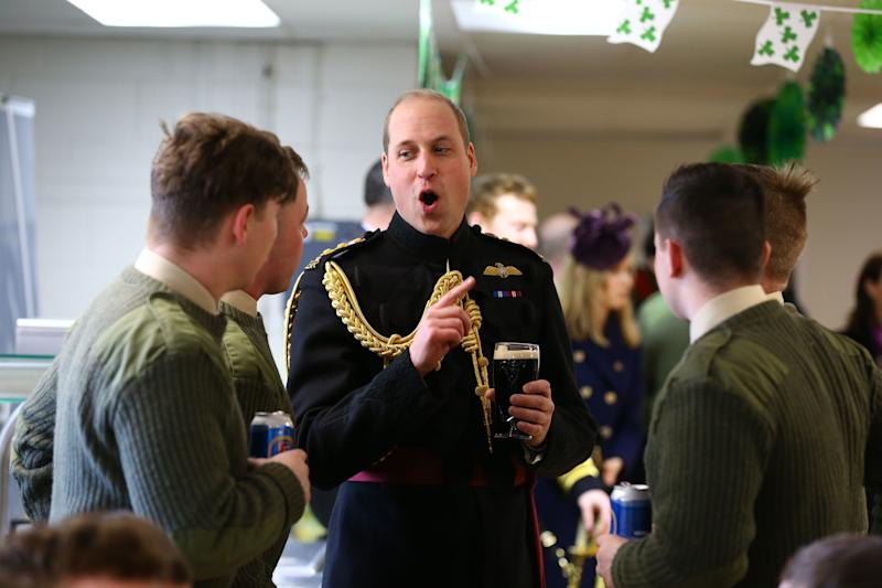 The Duke of Cambridge chatting after the parade. (Photo: WPA Pool via Getty Images)