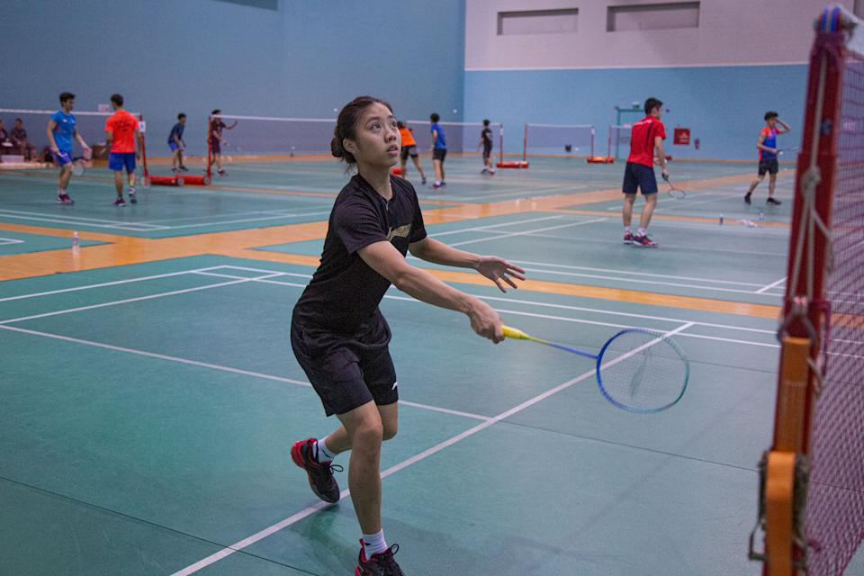 """In August, Yeo Jia Min became the first Singaporean women's singles player to reach the quarter-finals of the Badminton World Championships. Unfortunately, she did not make it past the quarter-final round of the women's singles event at the SEA Games in December. Read our story: <a href=""""https://bit.ly/354IWyl"""" rel=""""nofollow noopener"""" target=""""_blank"""" data-ylk=""""slk:https://bit.ly/354IWyl"""" class=""""link rapid-noclick-resp"""">https://bit.ly/354IWyl</a> (PHOTO: Dhany Osman / Yahoo News Singapore)"""