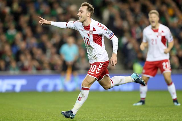 <p>Age: 26<br>Caps: 77<br>Position: Midfielder<br>The excellent Eriksen was a huge factor in Denmark making the finals – he scored eight goals in qualification, and then netted a hat-trick in Denmark's decisive 5-1 play-off win in Ireland. </p>