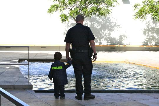 <p>Two years old and still content with mom selecting his costume, C.J. was a police officer, just like his daddy. I sensed it would be the last year I'd get to pick his Halloween getup. The next year he'd be three, and would surely have stronger opinions of his own.</p>