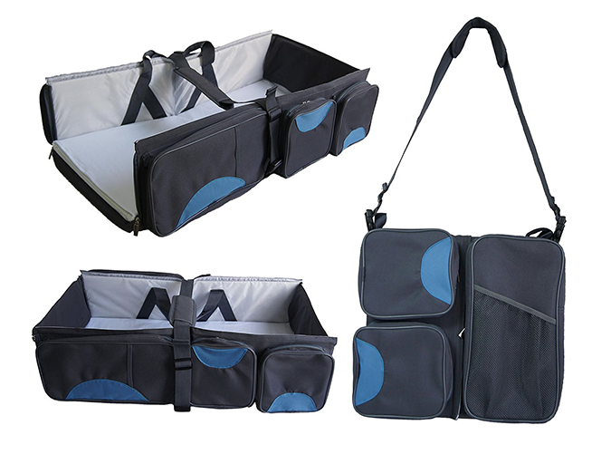 "<p>This guy starts off as a travel diaper bag and folds out into a changing table and put-anywhere bassinet.</p> <p><a rel=""nofollow"" href=""http://amzn.to/2uuGNNj""><em>Boxum</em></a><em> ($75)</em></p>"