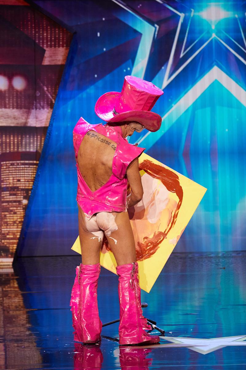 Performance artist Pricasso turned a few heads with his... unusual audition. Photo: Seven