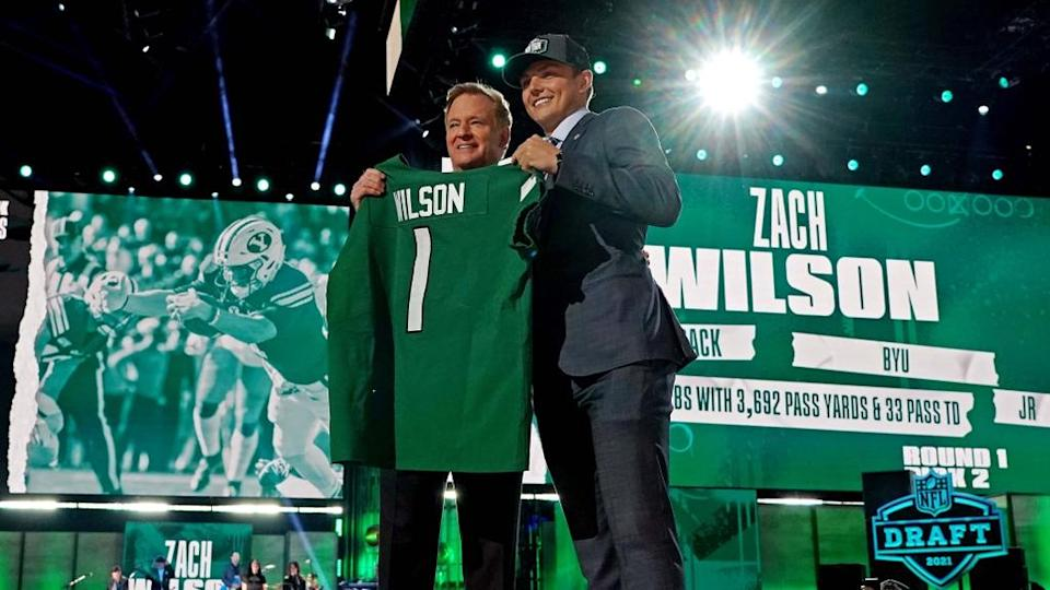 Zach Wilson with Roger Goodell on Draft Night