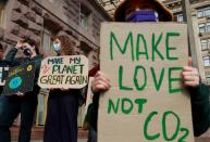 FILE PHOTO: Fridays for Future activists protest in Kyiv