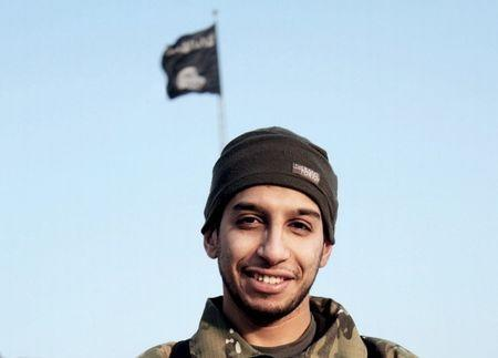 An undated photograph of a man described as Abdelhamid Abaaoud that was published in the Islamic State's online magazine Dabiq and posted on a social media website. REUTERS/Social Media Website via Reuters TV