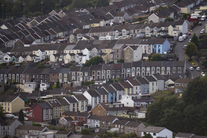RHONDDA, UNITED KINGDOM - OCTOBER 01: A general view of terraced housing on October 1, 2018 in Rhondda, United Kingdom. (Photo by Matthew Horwood/Getty Images)