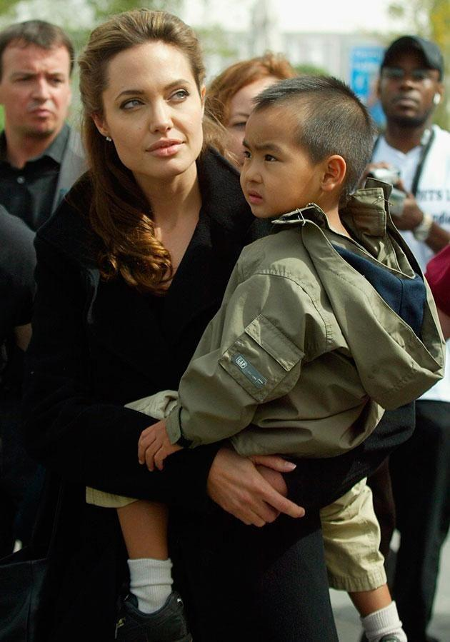 The actress (pictured in 2005) adopted son Maddox from Cambodian in 2002. Source: Getty