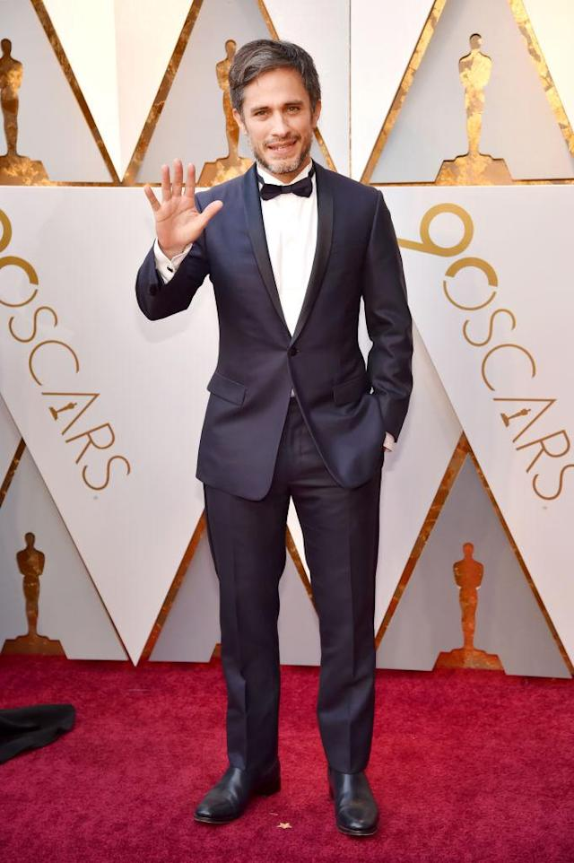 <p>Gael García Bernal attends the 90th Academy Awards in Hollywood, Calif., March 4, 2018. (Photo: Getty Images) </p>