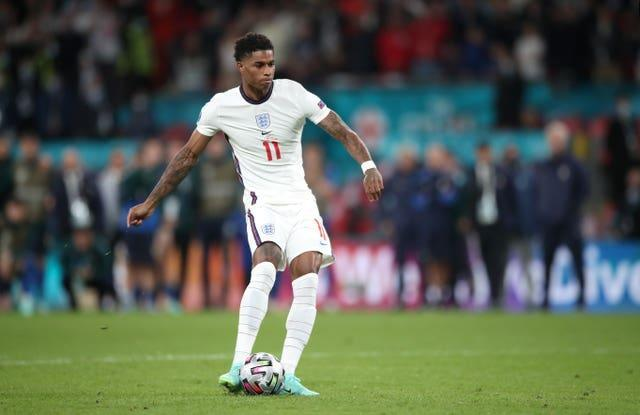 Marcus Rashford hit the post in England's Euro 2020 penalty shoot-out loss to Italy