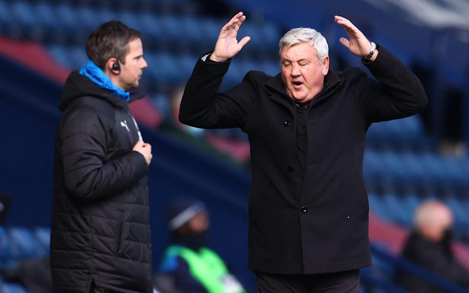 Newcastle United's English head coach Steve Bruce reacts during the English Premier League football match between West Bromwich Albion and Newcastle United  - AFP