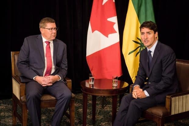 Liberal Leader Justin Trudeau says he feels bad for fully vaccinated people in Saskatchewan as the province's cases spike and vaccinations slow. (Matt Smith/Canadian Press - image credit)