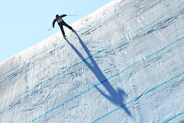 <p>Katie Summerhayes of Great Britain competes during the Freestyle Skiing Ladies' Ski Slopestyle final on day eight of the PyeongChang 2018 Winter Olympic Games at Phoenix Snow Park on February 17, 2018 in Pyeongchang-gun, South Korea. (Photo by David Ramos/Getty Images) </p>