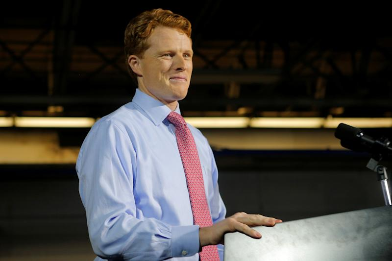 Rep. Joe Kennedy (D-Mass.) delivers the Democratic rebuttal to President Donald Trump's State of the Union address on Tuesday. (Brian Snyder / Reuters)