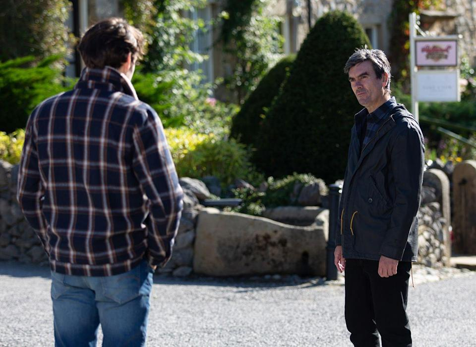 <p>Cain warns that if he ever sees Mackenzie in the village again, he'll kill him. </p>