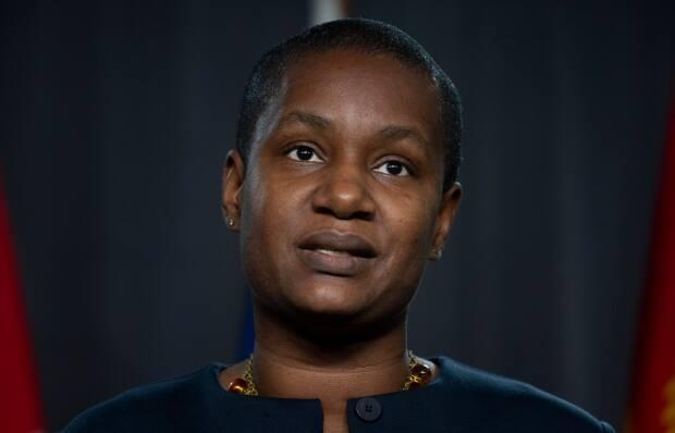 The Green Party's federal council is considering holding back $250,000 previously earmarked for leader Annamie Paul's campaign in Toronto Centre. (Adrian Wyld/The Canadian Press - image credit)