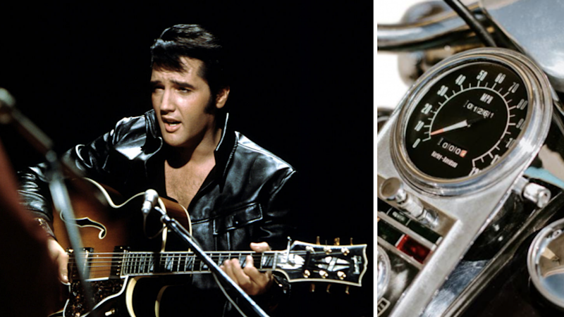 Elvis Presley's Harley is up for auction. Source: Getty