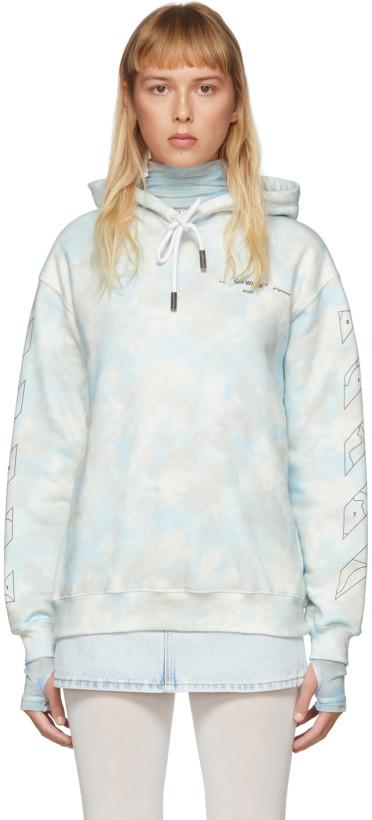 Off-White Blue Tie-Dye Puzzle Arrows Hoodie