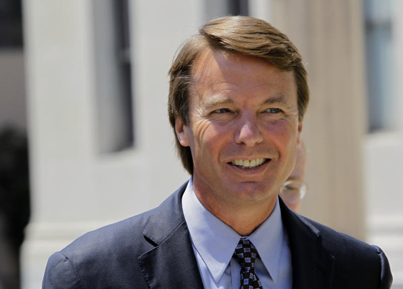 FILE - In this July 14, 2011 file photo, former presidential candidate John Edwards leaves federal court following an appearance in Greensboro, N.C.  The purported sex tape of Edwards and his mistress will be destroyed within 30 days after a lawsuit over who owned the tape was settled Thursday, Feb. 23, 2012. (AP Photo/Gerry Broome, File)