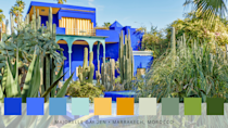 <p>French fashion designer Yves Saint Laurent's former garden is home to over 300 plant species, as well as his world-famous cobalt blue exterior. Now Morocco's most-visited tourist attraction, the scene-stealing colours here include blue, sunshine yellow, orange and green. </p>