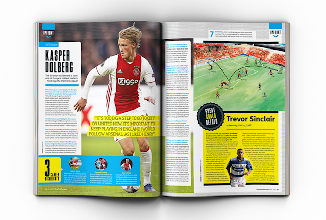 Ajax starlet Kasper Dolberg has told FourFourTwo that talk of him moving to the Premier League is too soon.