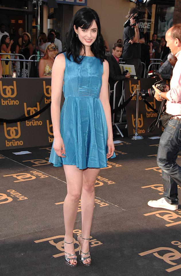 "<a href=""http://movies.yahoo.com/movie/contributor/1808532777"">Krysten Ritter</a> at the Los Angeles premiere of <a href=""http://movies.yahoo.com/movie/1809922951/info"">Bruno</a> - 06/25/2009"
