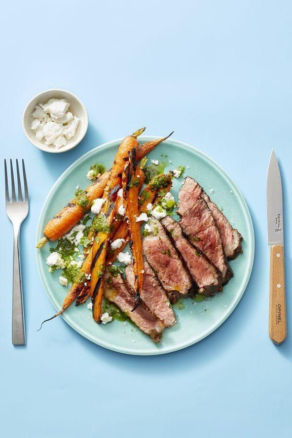 """<p>Rub the steak with the spices and refrigerate overnight to truly wow your family this weekend with a flavor-packed dinner.</p><p><em><a href=""""https://www.goodhousekeeping.com/food-recipes/easy/a28470209/grilled-moroccan-steak-and-carrots-recipe/"""" rel=""""nofollow noopener"""" target=""""_blank"""" data-ylk=""""slk:Get the recipe for Grilled Moroccan Steak and Carrots »"""" class=""""link rapid-noclick-resp"""">Get the recipe for Grilled Moroccan Steak and Carrots »</a></em></p>"""