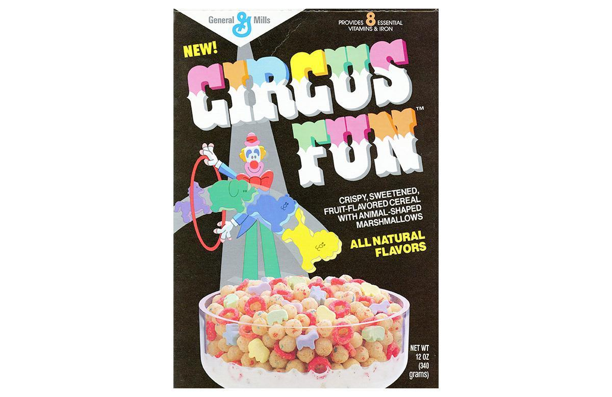 """<p>The marshmallows in Circus Fun were shaped like lions, tigers, bears, elephants and horses. These delightful little animals were intermixed with colorful spheres and loops of crunchy cereal. The mascot was a clown who showed up in some very '80s commercials. At one point, the boxes came with Life Savers candy inside, which is still one of <a href=""""https://www.thedailymeal.com/eat/popular-candy-us-states?referrer=yahoo&category=beauty_food&include_utm=1&utm_medium=referral&utm_source=yahoo&utm_campaign=feed"""">America's favorites candies</a>.</p>"""