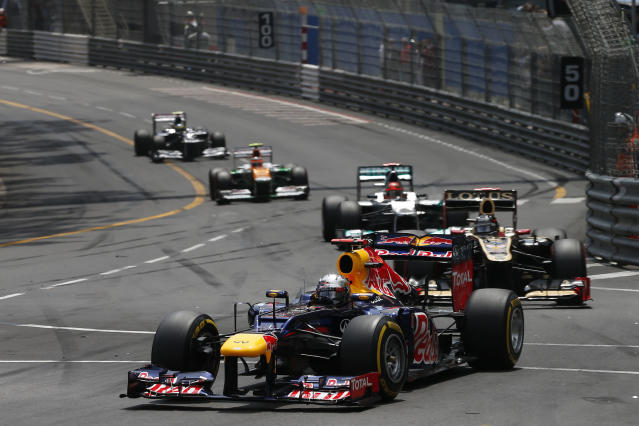 MONTE CARLO, MONACO - MAY 27: Mark Webber of Red Bull and Australia during the Monaco Formula One Grand Prix at the Circuit de Monaco on May 27, 2012 in Monte Carlo, Monaco. (Photo by Peter J Fox/Getty Images)