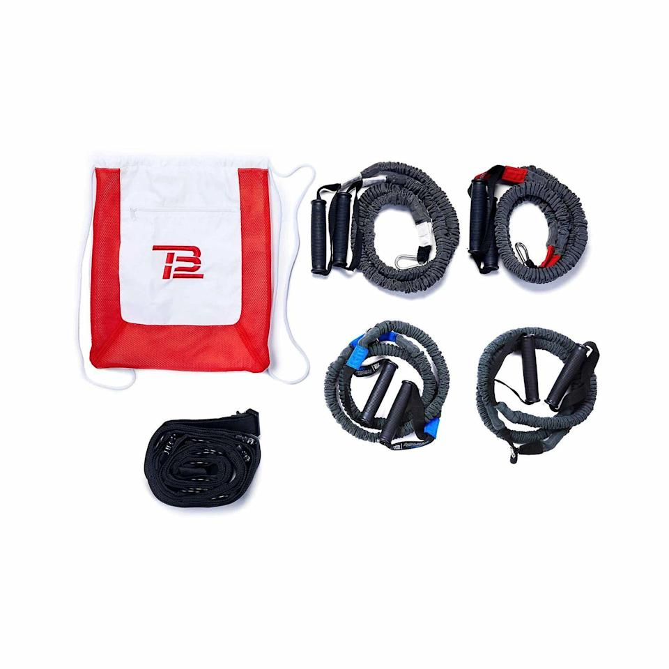 """<p><strong>TB12 Sports</strong></p><p>huckberry.com</p><p><strong>$160.00</strong></p><p><a href=""""https://go.redirectingat.com?id=74968X1596630&url=https%3A%2F%2Fhuckberry.com%2Fstore%2Ftb12-sports%2Fcategory%2Fp%2F69278-core-upper-body-training-kit&sref=https%3A%2F%2Fwww.esquire.com%2Flifestyle%2Fg22141607%2Fbest-gifts-for-boyfriend-ideas%2F"""" rel=""""nofollow noopener"""" target=""""_blank"""" data-ylk=""""slk:Buy"""" class=""""link rapid-noclick-resp"""">Buy</a></p><p>Does your boyfriend want to be Tom-Brady-ripped? Do <em>you</em> want your boyfriend to be Tom-Brady-ripped? Then get him Tom Brady's training system.</p>"""