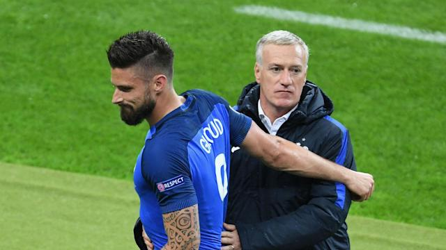 A clutch of exciting young talent coming into the France squad will not dissuade boss Didier Deschamps of Olivier Giroud's merits.