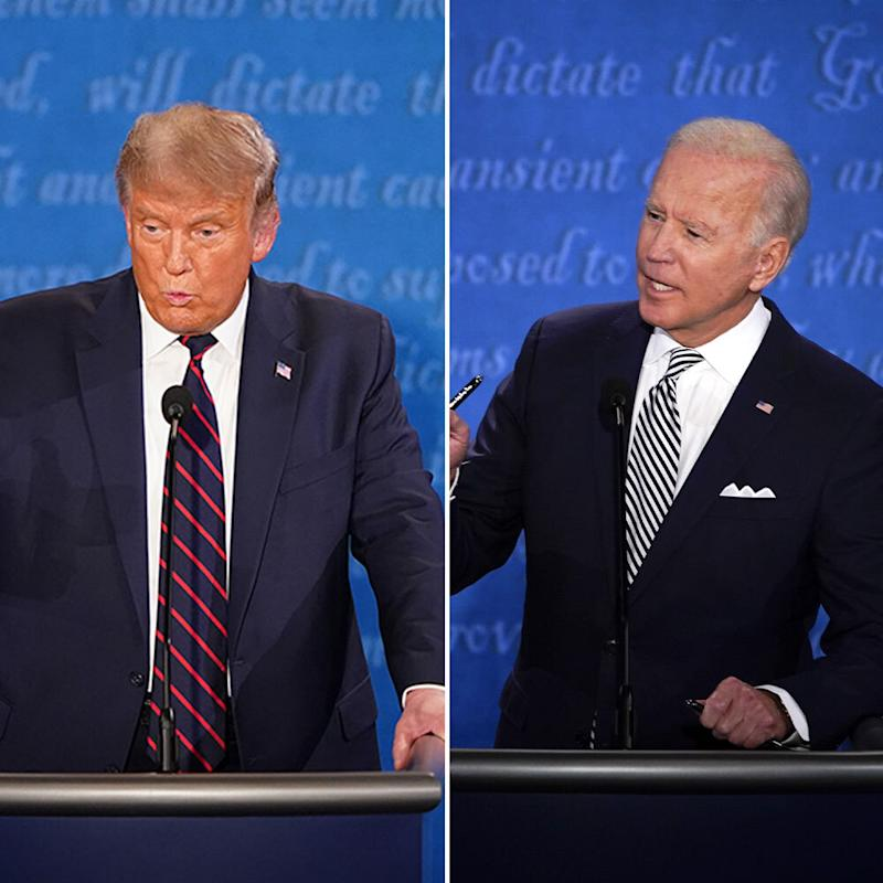 Trump was quick to interrupt during the debate. Source: Yahoo News