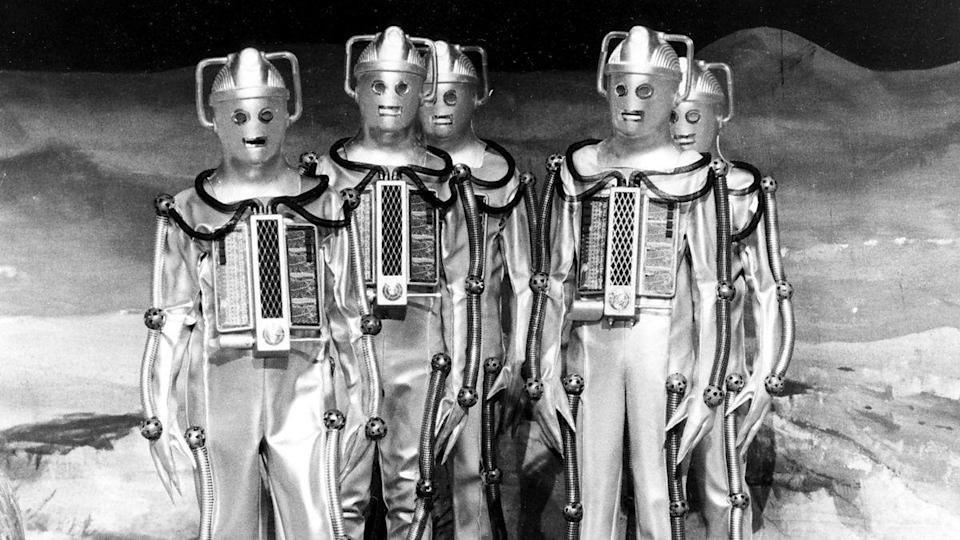 """<p>The Cybermen's first return appearance is missing its 1st and 3rd episodes, but the four-parter was <a href=""""https://www.amazon.co.uk/Doctor-Who-Moonbase-Patrick-Troughton/dp/B00H7WX790/"""" rel=""""nofollow noopener"""" target=""""_blank"""" data-ylk=""""slk:released to DVD"""" class=""""link rapid-noclick-resp"""">released to DVD</a> in 2014, with the missing material replaced with <a href=""""https://www.youtube.com/watch?v=YUdZd43hxgk"""" rel=""""nofollow noopener"""" target=""""_blank"""" data-ylk=""""slk:snazzy new animation"""" class=""""link rapid-noclick-resp"""">snazzy new animation</a>.</p>"""