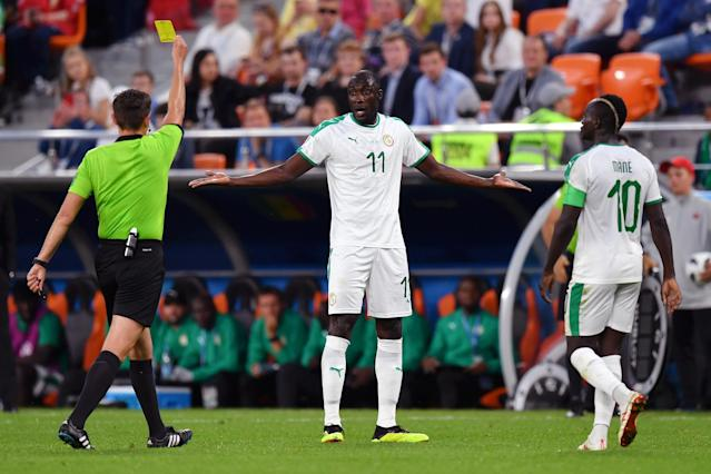 One of the six Senegal yellow cards that eliminated the Lions of Teranga from the 2018 World Cup. (Getty)