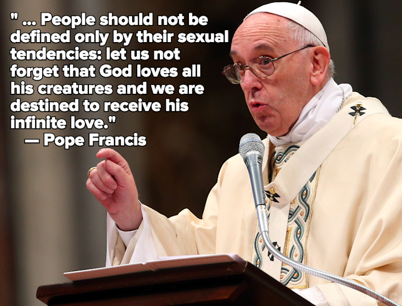 Cool Pope Francis Makes His Most Progressive Statements Yet on Social Issues
