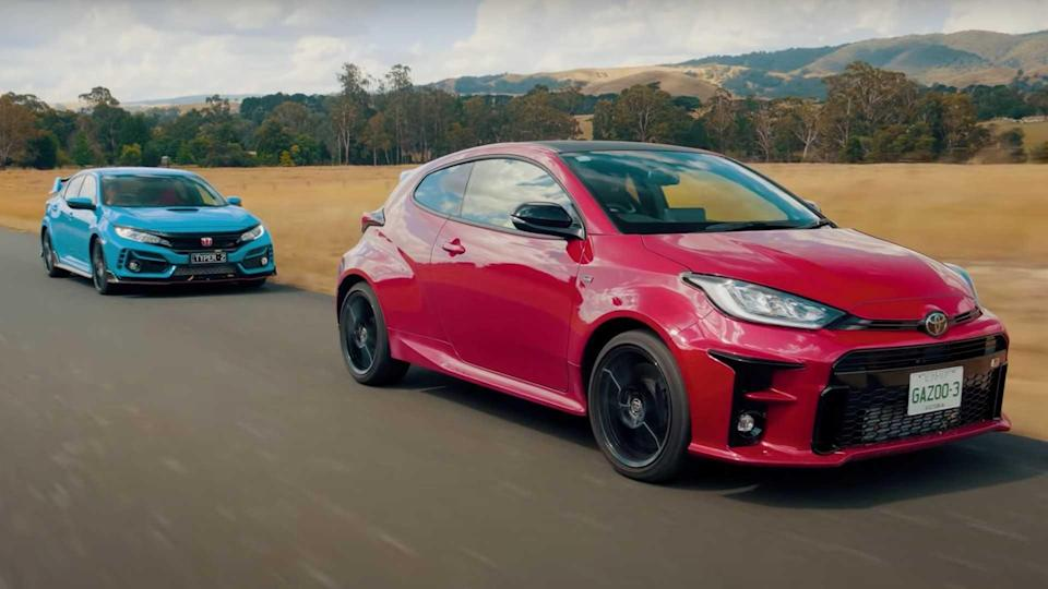 Civic Type R vs GR Yaris Drag Race