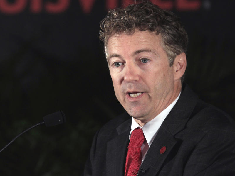 Senator Rand Paul: REUTERS