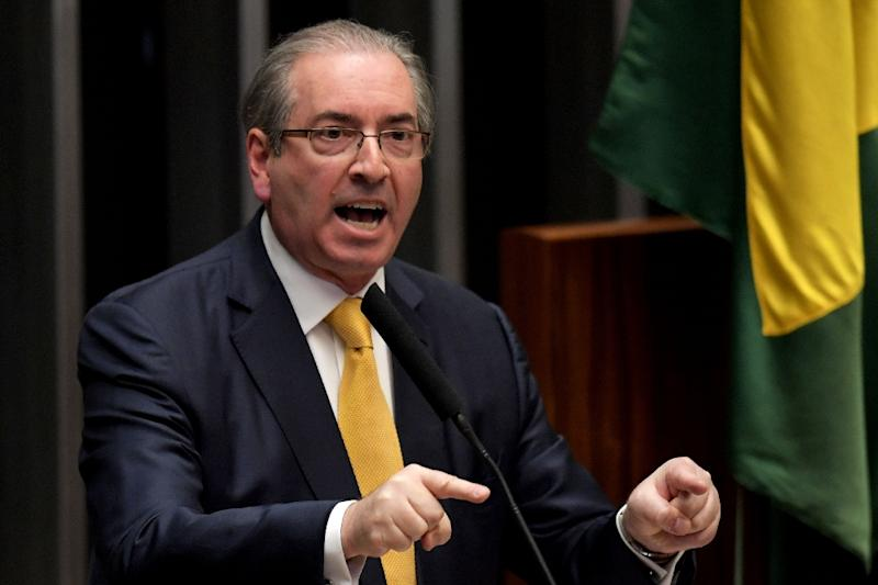 Eduardo Cunha, the former president of Brazil's lower house, was one of the country's most powerful lawmakers and the architect of former president Dilma Rousseff's impeachment until engulfed in corruption charges (AFP Photo/Evaristo Sa)