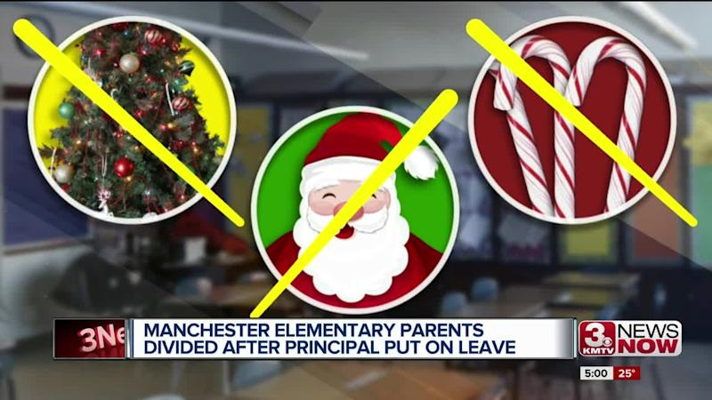 An elementary school principal was put on leave after trying to enact a