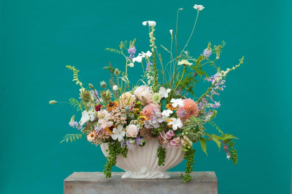 <p>Buckets of fun: Wolves Lane Flowers is gearing up to offer bouquets and subscription services</p> (Nick Selby)